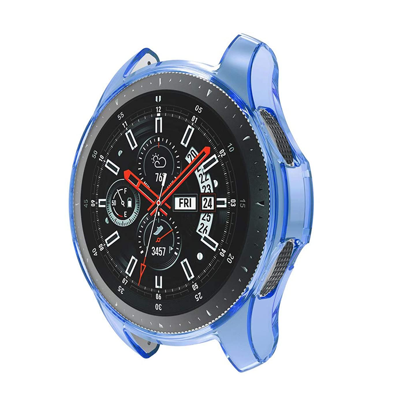 ZTY66 Galaxy Watch 46MM Case, Silicone Shock-Proof and Protector Cover Compatible for Samsung Galaxy Watch 46MM (2019) (Blue)