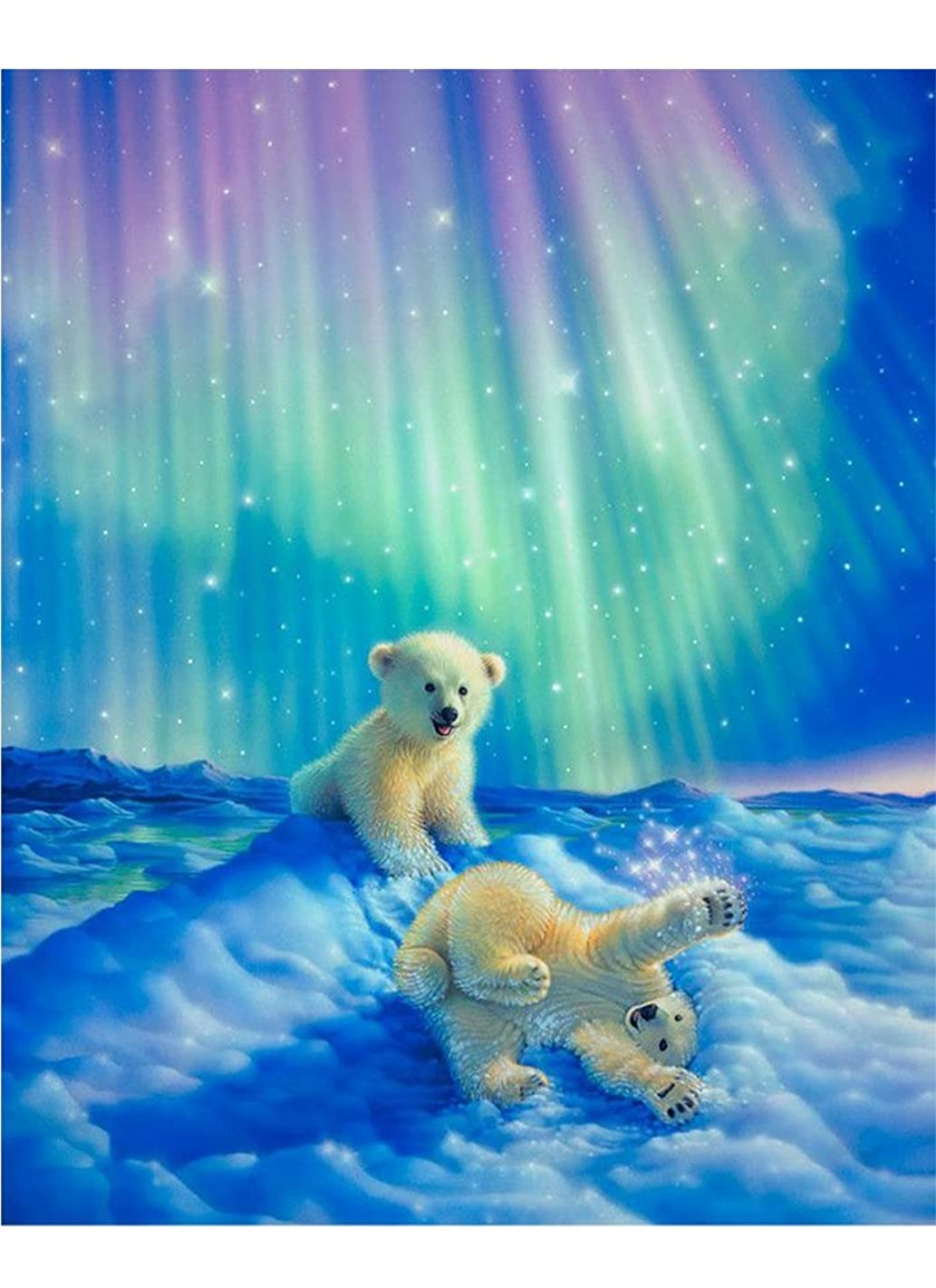 Mobicus Blxecky 5D DIY Diamond Painting by Number Kits,Two Little Bear(12X16inch/30X40CM)