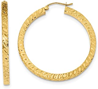 52mm x 22mm Mia Diamonds 925 Sterling Silver Gold Plated Square Tube Oval Hoop Earrings