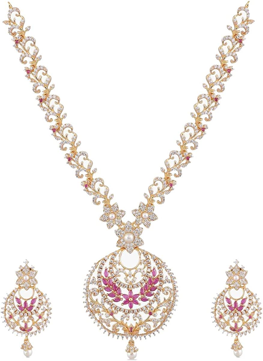 Tarinika Tiah Gold-Plated Indian Factory outlet Jewelry Necklace with outlet E and Set