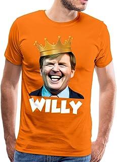 Spreadshirt Koning Willem-Alexander Grappige Koningsdag Mannen Premium T-shirt
