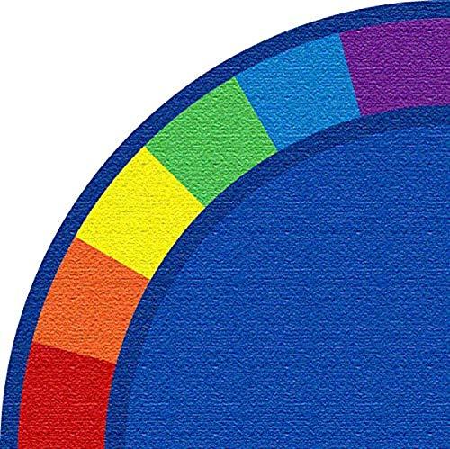 Kid Carpet Colors Corner Quarter Circle Nylon Area Rug, 6' x 6', Multicolored