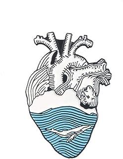 Órgano del Esmalte del corazón Pin de la Solapa corazón Valiente broches Bolsa Ropa Insignia médica Deco Accesorios