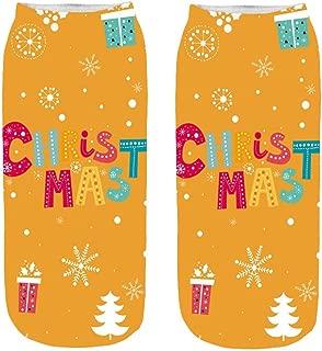 ✈HYIRI 2018 new Women's 3D Cartoon Funny Christmas Crazy Cute Amazing classic Novelty Print Ankle Socks