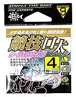 がまかつ(Gamakatsu) シングルフック 競技口太 4号 18本 ケイムラピンク 68444