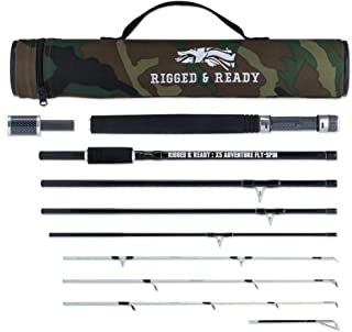 The X5 Adventure Travel Fishing Rod. 5 Travel Fishing RODS in ONE. The Interchangeable Spin, Fly, Bait, Travel Fishing Rod. British Design. Rigged and Ready Travel Fishing