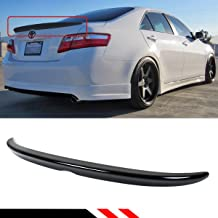 Cuztom Tuning Fits for 2007-2011 Toyota Camry LE SE XLE Painted Glossy Black Rear Trunk Lid Spoier Wing