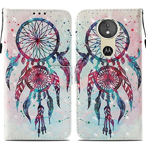 Ooboom® Motorola Moto E5/G6 Play Hülle 3D Flip PU Leder Schutzhülle Stand Handy Tasche Brieftasche Wallet Hülle Cover für Motorola Moto E5/G6 Play - Bunt Traumfänger