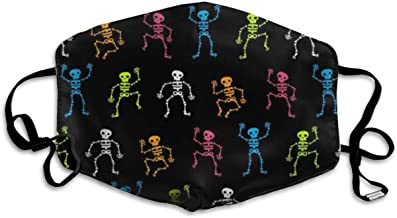Colorful Skeleton Allergy & Flu Mask - Comfortable, Washable Protection from Dust, Pollen, Allergens, Cold & Flu Germs Antimicrobial, Asthma Mask