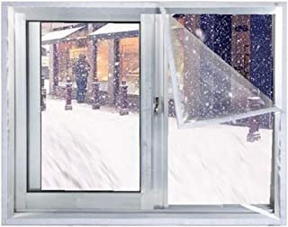 YANGSANJIN Lona, Película Aislante Ventana Transparente Parabrisas para el hogar Dormitorio Protección contra el frío Cubierta cálida a Prueba de Viento (Color: Transparente, Tamaño: 1.5x2m)