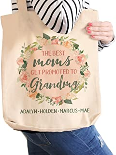 Nana Tote Bag   Personalized Grandma Tote   Great Moms Get Promoted to