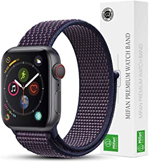 Mifan Official Nylon Loop Band for Apple Watch 40mm/38mm Series 1/2/3/4 Replacement Strap Mesh Soft Breathable Woven Sports Wristband Bracelet Indigo Blue