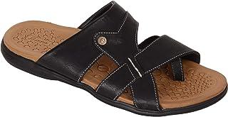 BATA Men Black Soft Slip On Sandal Chappal
