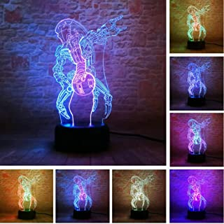 Luces nocturnas 3D Star Wars Color mixto LED Robot Control remoto Touch 7 Color Gradient Dimming Holiday Kids Holiday Christmas Gift