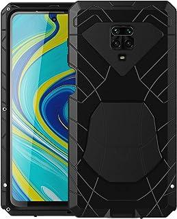 Feitenn Xiaomi Redmi Note 9S Case Metal, Redmi Note 9 Pro/Note 9 Pro Max Case Heavy Duty, Gorilla Glass Cover Armor Alumin...