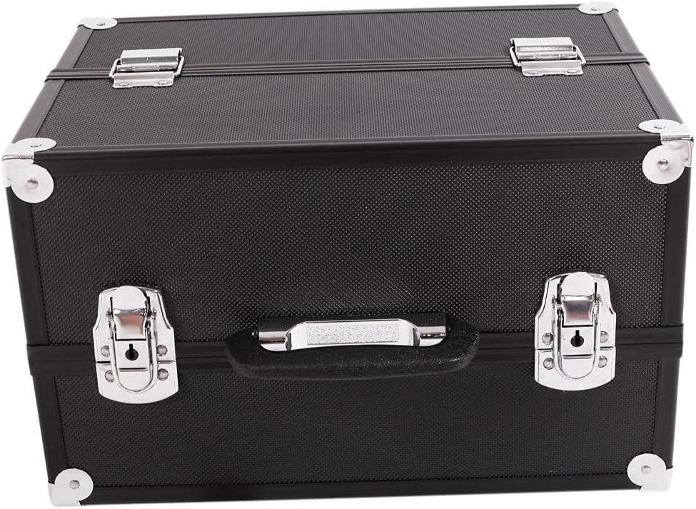 Regular dealer WFY Aluminum Alloy We OFFer at cheap prices Makeup Train Case Organizer Box Jewelry Black