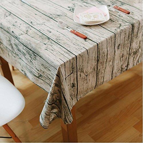 YEARGER Nappe rectangulaire en Bois Style Vintage pour Salon ou Salle à Manger, 140cm×250cm