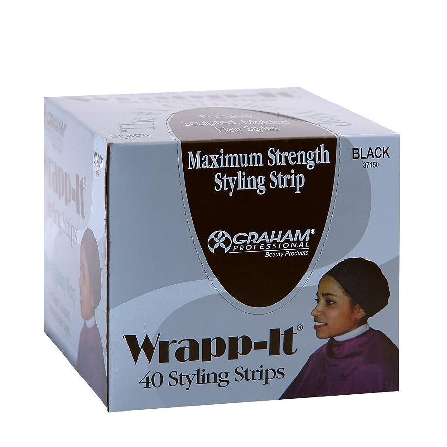 武装解除悪性腫瘍リスナーGraham Professional Beauty Wrapp、それブラックスタイリングストリップ