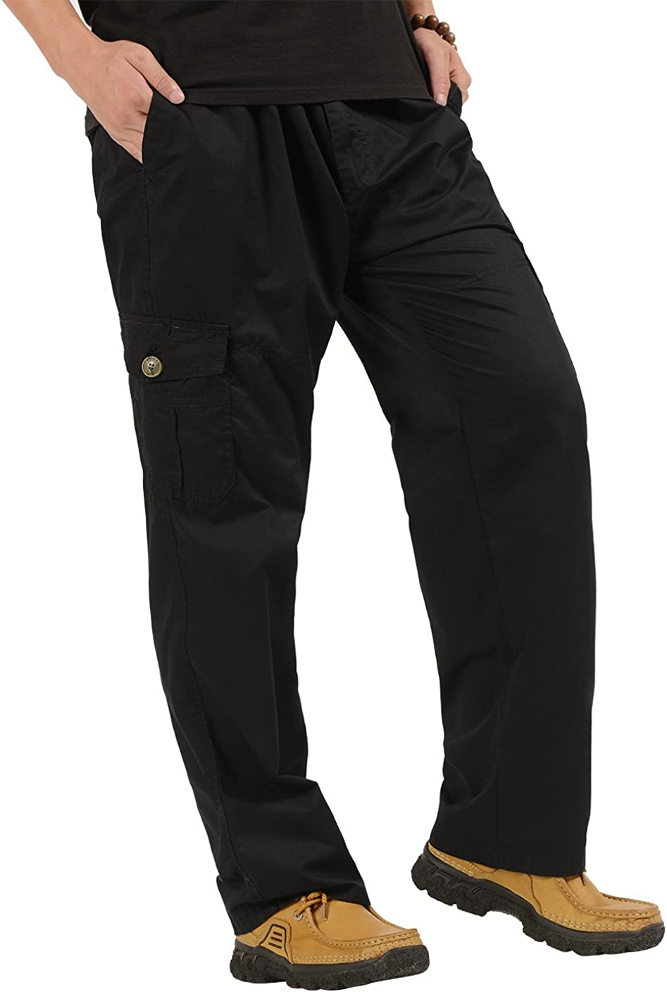 NEW before selling Men's Jacksonville Mall Casual Cargo Pants Loose-fit with Straight M Outdoor