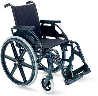 "Silla de ruedas plegable Breezy Premium con ruedas de 24"" - 46, GRIS SELENIO, NEUMATICAS"