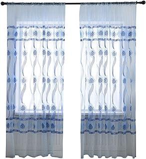 MIMIHUHU 1 Pièce Rideau De Fenetre Translucide🍒Rideau Translucides  Extérieur Intérieur Rideau De Salon Moderne