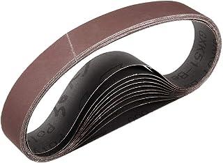 """1""""x 21"""" 800 kornslipbälte Aluminiumoxid sandpappersbälten för bärbar rems slipmaskin träfinish metall gips polering slipni..."""