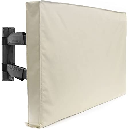 """Outdoor TV Cover - 42"""" Model for 40"""" - 43"""" Flat Screens - Slim Fit - Weatherproof Weather Dust Resistant Television Protector - Tan"""