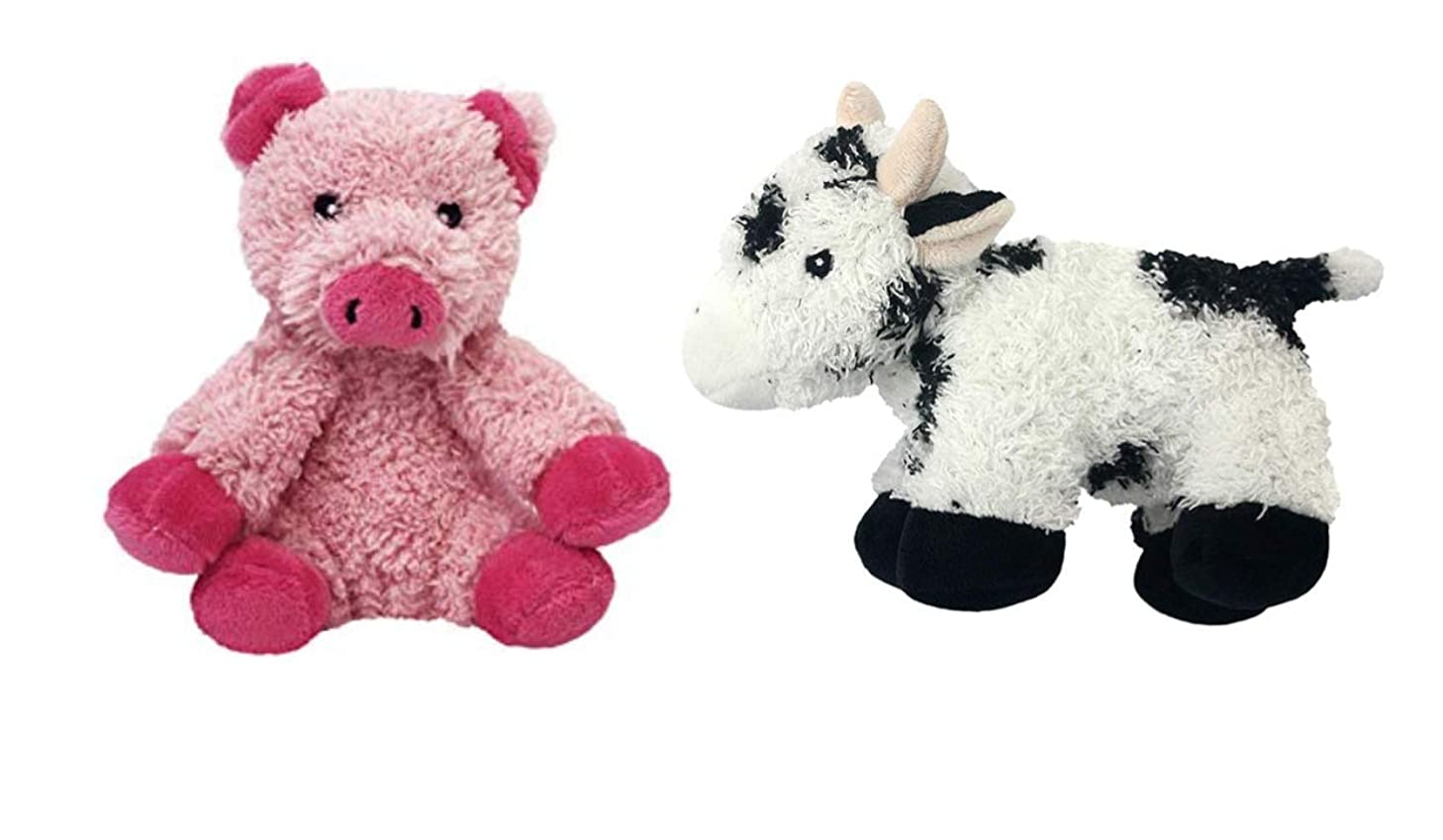 Multipet Look Who's Talking Cow & Pig Dog Toy Set of 2