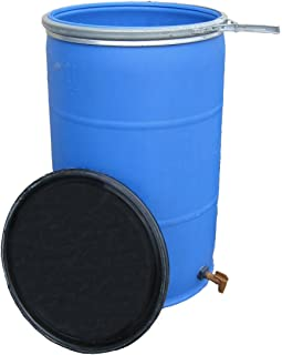 55 Gallon Open Top Barrel w/Bulkhead Fitting and Faucet