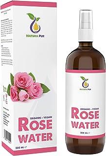 Rosenwasser BIO 200ml – 100% natürlich, vegan, in Glasflasche –..