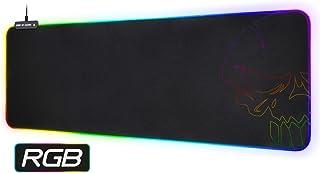 SPIRIT OF GAMER - Alfombrillas de Raton RGB XXL – Retroi Luminación LED Iluminada 10 Modos + Colores RGB - Textura Ultra Fina - Base Antideslizante - Dim: 85.7 x 33 x 0.5 cm