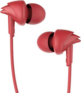 boAt BassHeads 100 Hawk Inspired Earphones with Mic (Furious Red)