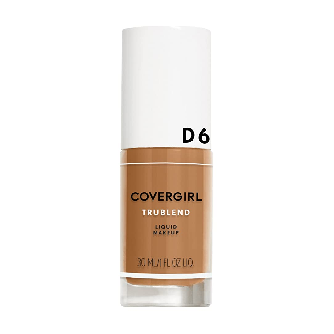 不利ペスト死傷者COVERGIRL TRUBLEND LIQUID MAKEUP #D6 TOASTED ALMOND