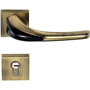 Plantex Secure Mortise Door Lock Handle/Mortise Handle with Lock Body Set/Door Lock/Handle with Two Stage Computeries Lock - 3 Keys (Brass Antique -7026)