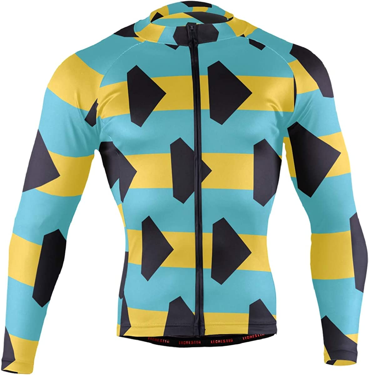 Bahamas Superlatite Flag Men's Long Sleeve Jersey Poc Bicycle specialty shop Jacket Cycling