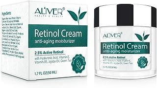 Crème au rétinol anti-âge, crème anti-rides jour et nuit, 2,5 % de rétinol avec acide hyluronique, vitamine E et B5