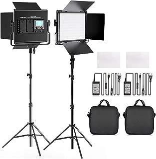 FOSITAN L4500KII Bi-Color LED Video Light Barndoor Kit 3960 Lux CRI 96+ 200 SMD LED Light for Studio Photography Shooting (U Bracket, LCD Display - 2 Packs)