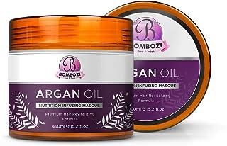 Bombozi Argan Oil Hair Mask   Hair Hydrating Nutrition Infusing Dry Scalp Treatment   Vitamin E, Omega Fatty Acids   Resto...