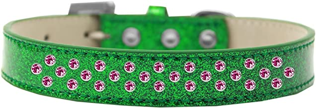 Mirage Pet Products Sprinkles Ice Cream Dog Collar Bright Pink Crystals Size 20 Black