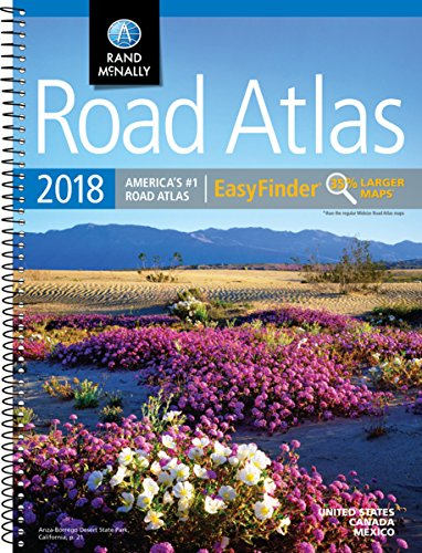 2018 Rand McNally EasyFinder Midsize Road Atlas (Rand McNally EasyFinder Road Atlas)
