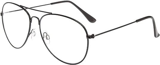 نظارات شمسية افياتور كبيرة الحجم للرجال والنساء بإطار معدني وعدسات شفافة