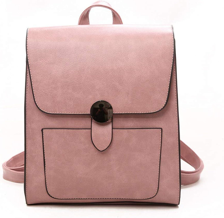 Zlk Backpack Bag Female College Wind Pu Leather Women's Shoulder Bag Handbag