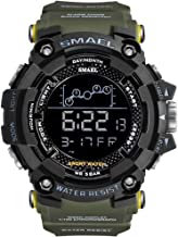 Men's Sports Watch, Big Dial Digital Watch Waterproof Military Watch with Alarm and Backlight