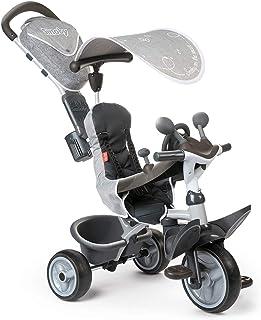 Smoby - Baby Driver komfort titan – 3-i-1 barns trehjul, växande multifunktionsfordon, för barn från 10 månader, grå