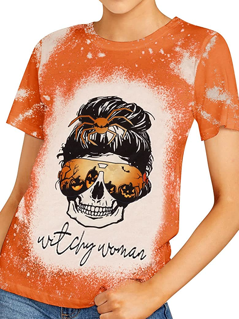 MYMORE Womens Feeling Idgaf-ish Today 2021 T Skull Graphic Shirt Mama unisex