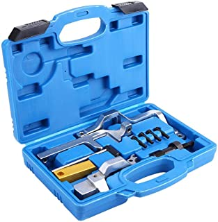 Cuque 10 Pcs Car Engine Camshaft Tensioning Locking Alignment Timing Belt Tool Case for MINI One