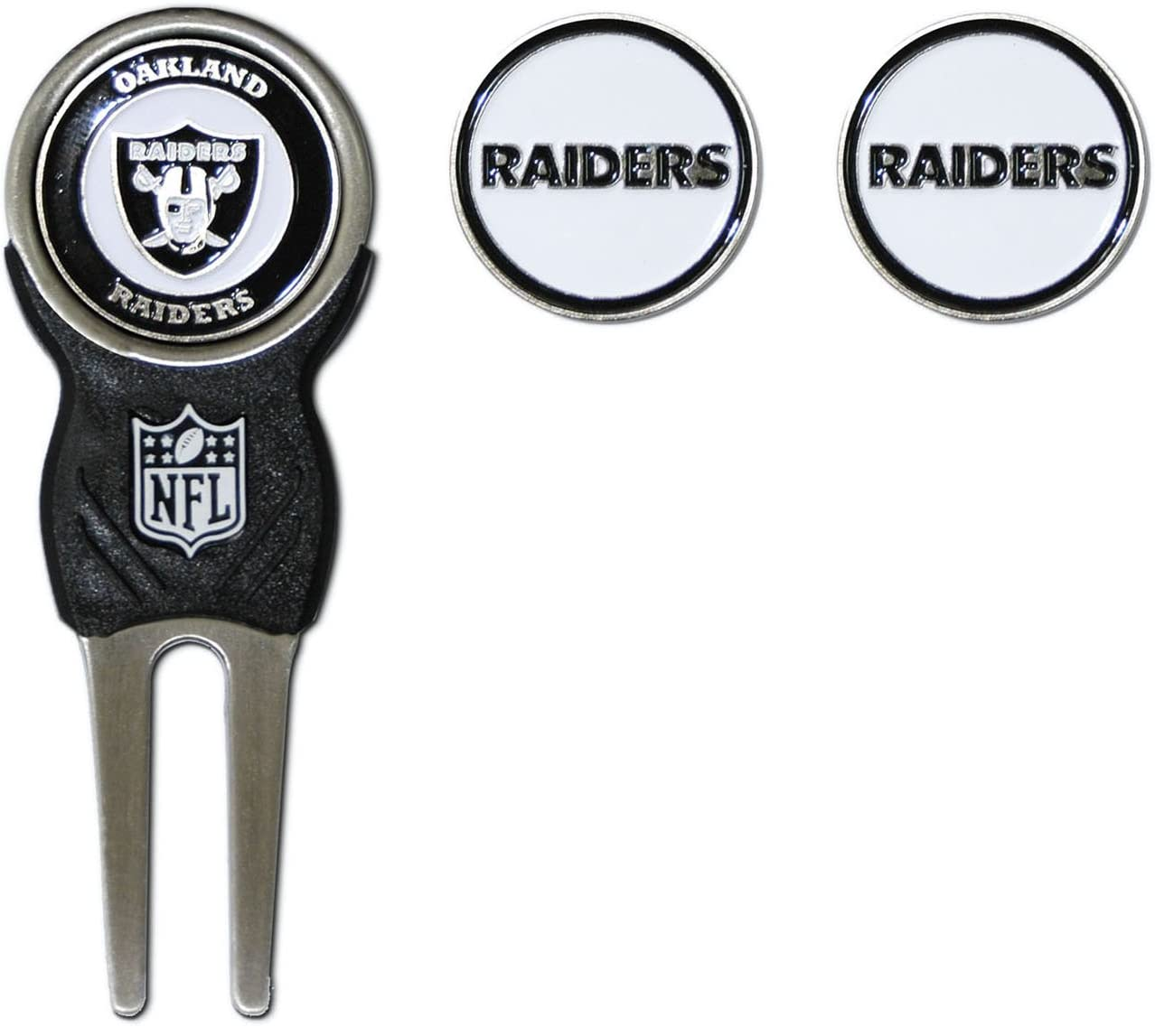 Team Golf NFL Kansas City Chiefs Divot Tool with 3 Golf Ball Markers Pack, Markers are Removable Magnetic Double-Sided Enamel : Golf Divot Tools : Sports & Outdoors