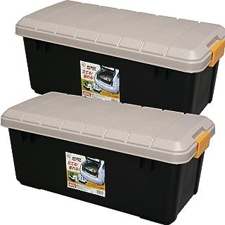 アイリスオーヤマ ボックス RVBOX 800 カーキ/ブラック 幅78.5x奥行37x高さ32.5cm 2個セット