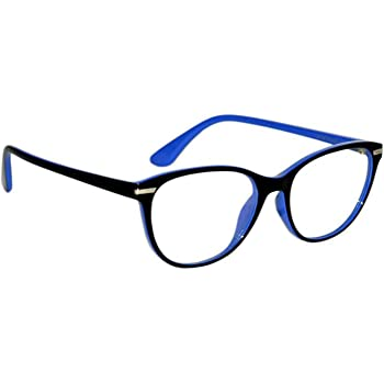 Peter Jones Cat-eye Anti Glare Reading Glasses for Men Women, Computer Readers UV 400 Customise Prescription (AG013)