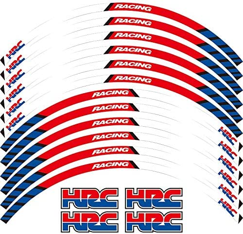 Motorrad Rad Aufkleber 17 Reflektierende Aufkleber Felgenband Fahrrad Auto Styling Für Honda Hrc Hrc Red Auto
